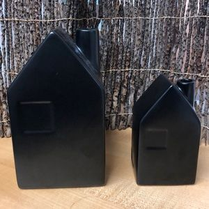 Hearth & Hand with Magnolia set stoneware houses